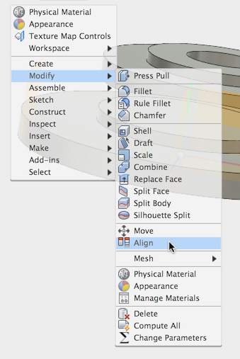 Align body centers to an axis, then rotate - Autodesk Community