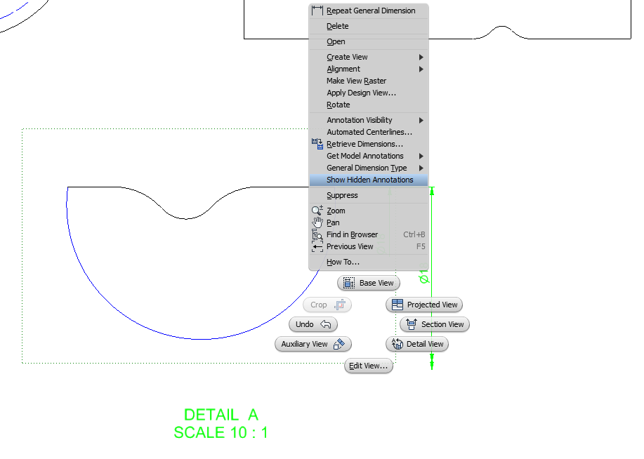 Solved: Linear Diametrical dimension in a detail view  - Autodesk