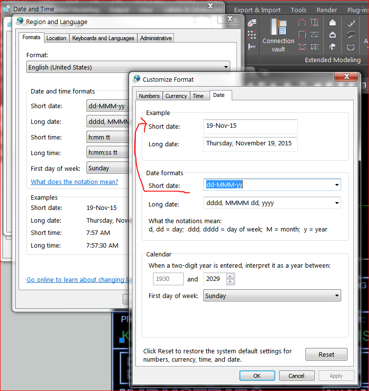 Changing Date Format Halfway through Project - Autodesk