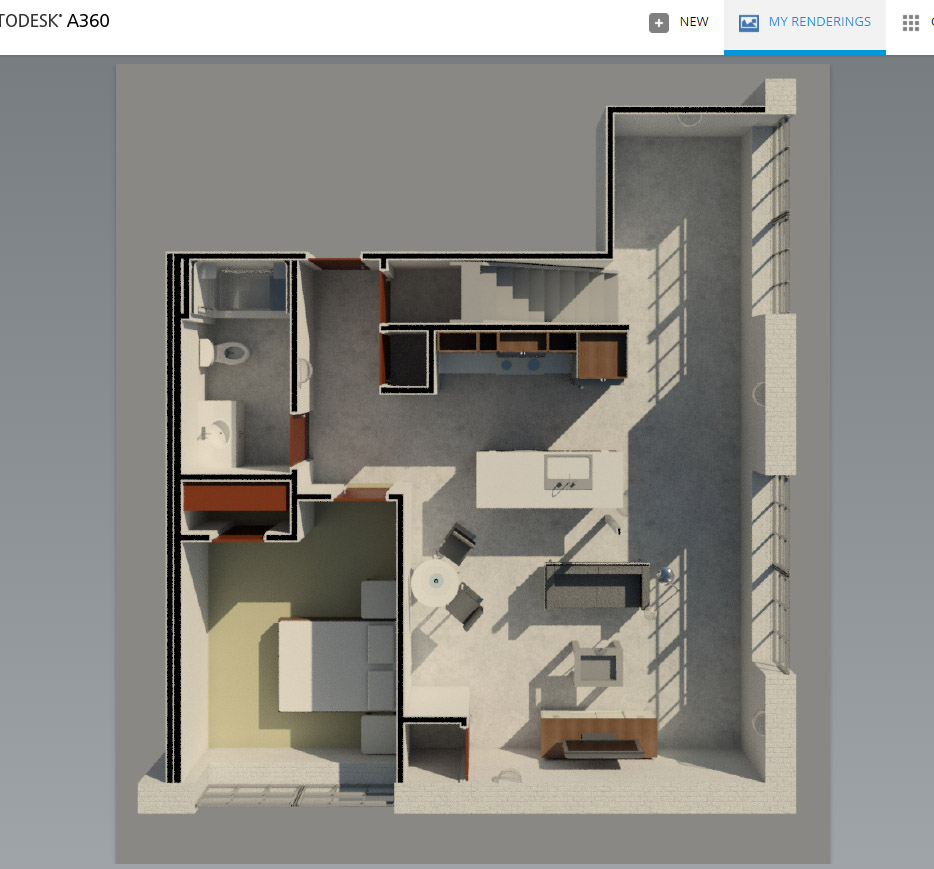3d top view perspective floor plan autodesk community for Revit architecture modern house design 1