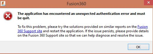 Solved: unexpected authentication error and must be quit - Autodesk