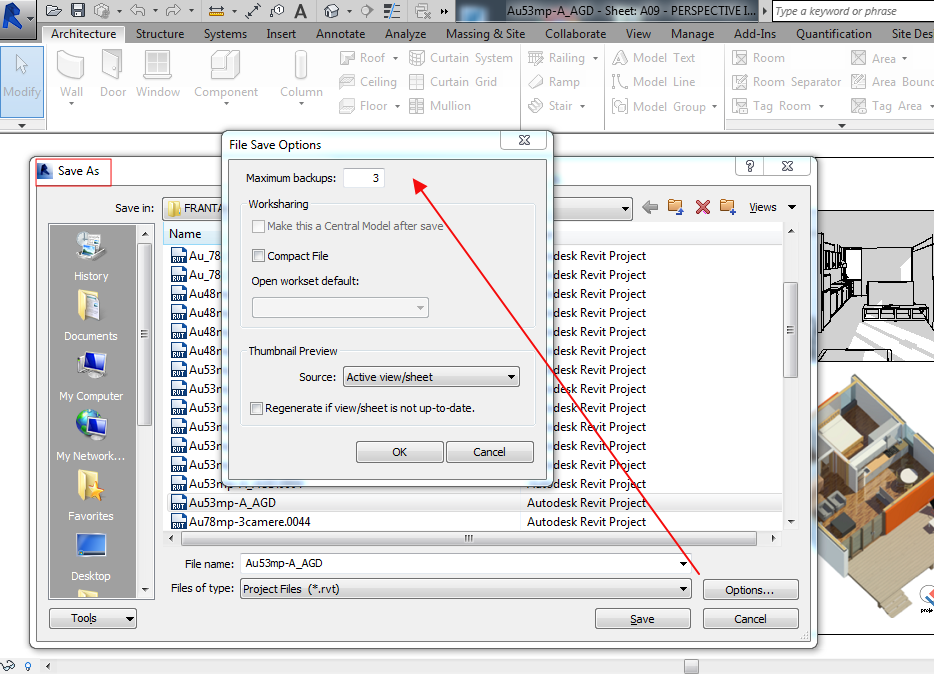 How to Stop Revit from Saving Autosave Files to the Original