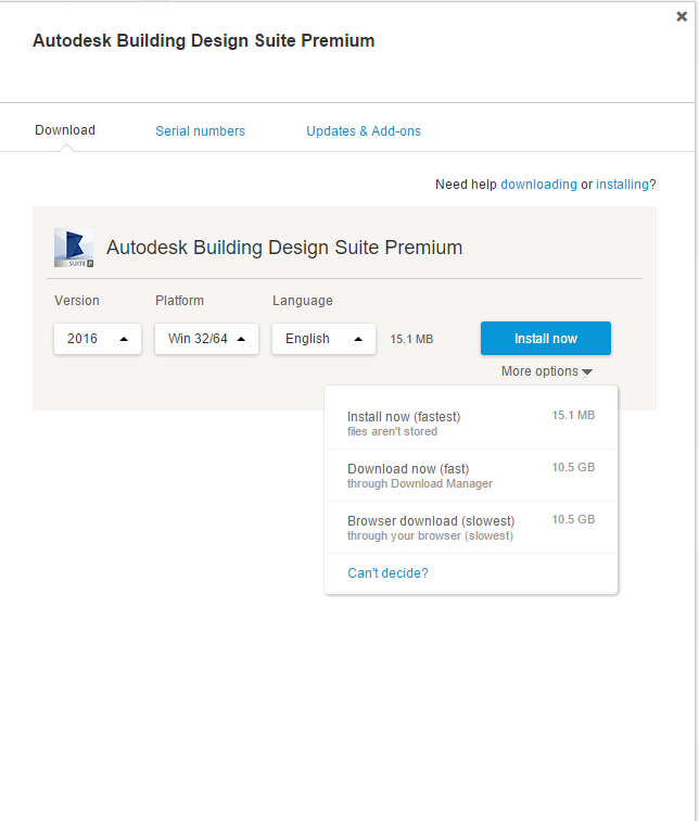 Not Able To Download Autodesk Building Design Suite