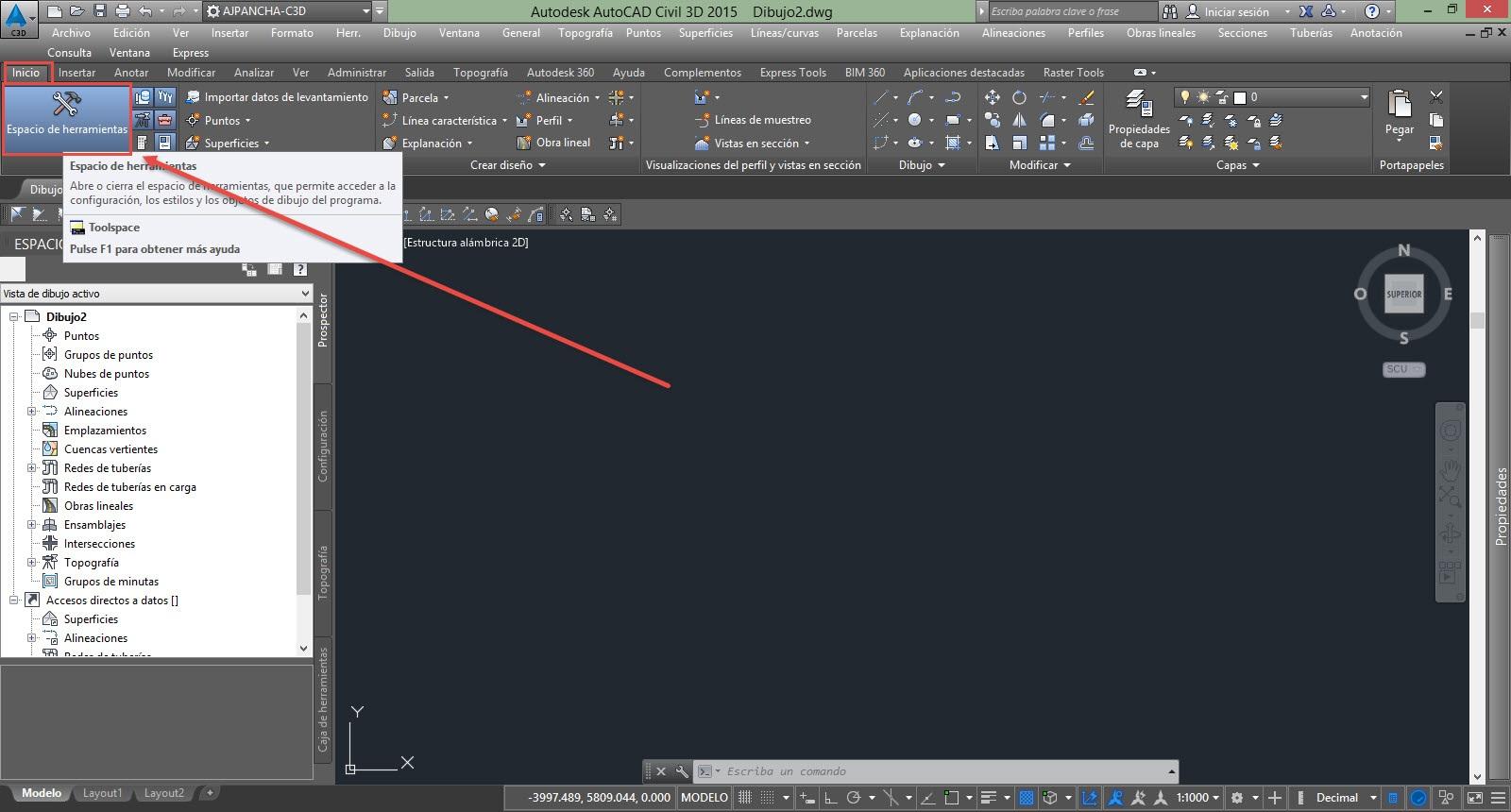 Solucionado: VENTANA TOOLSPACE NO APARECE - Autodesk Community