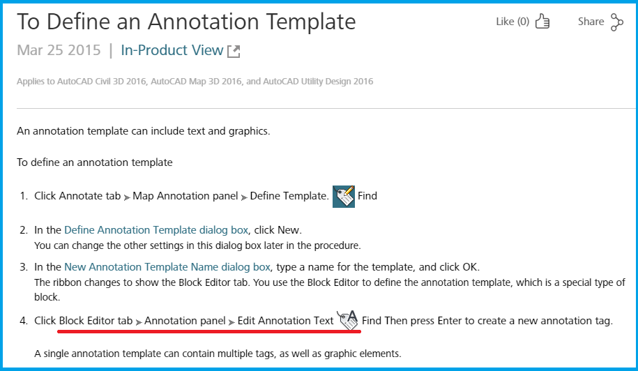 Edit Annotation Text panel is missing from Block Editor tab