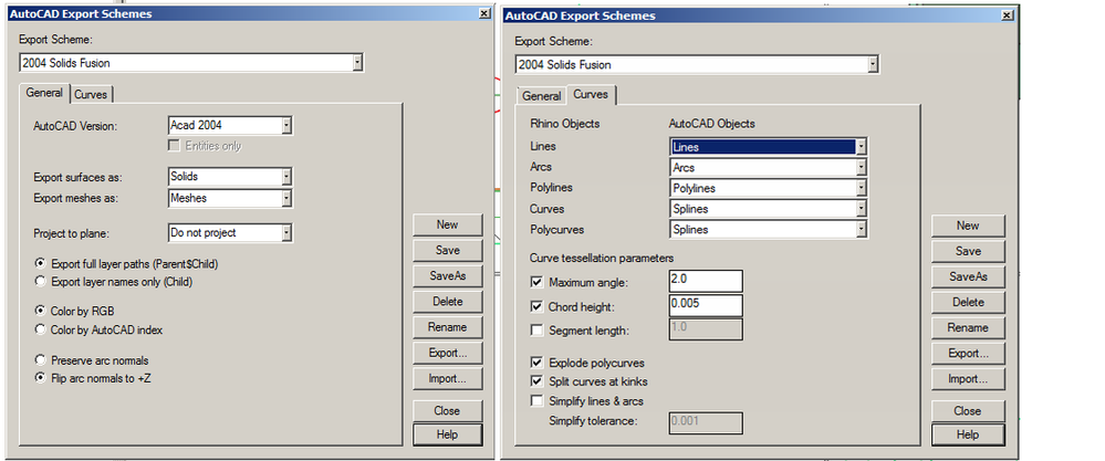 Solved: DWG\DXF export from Rhino, settings  - Autodesk
