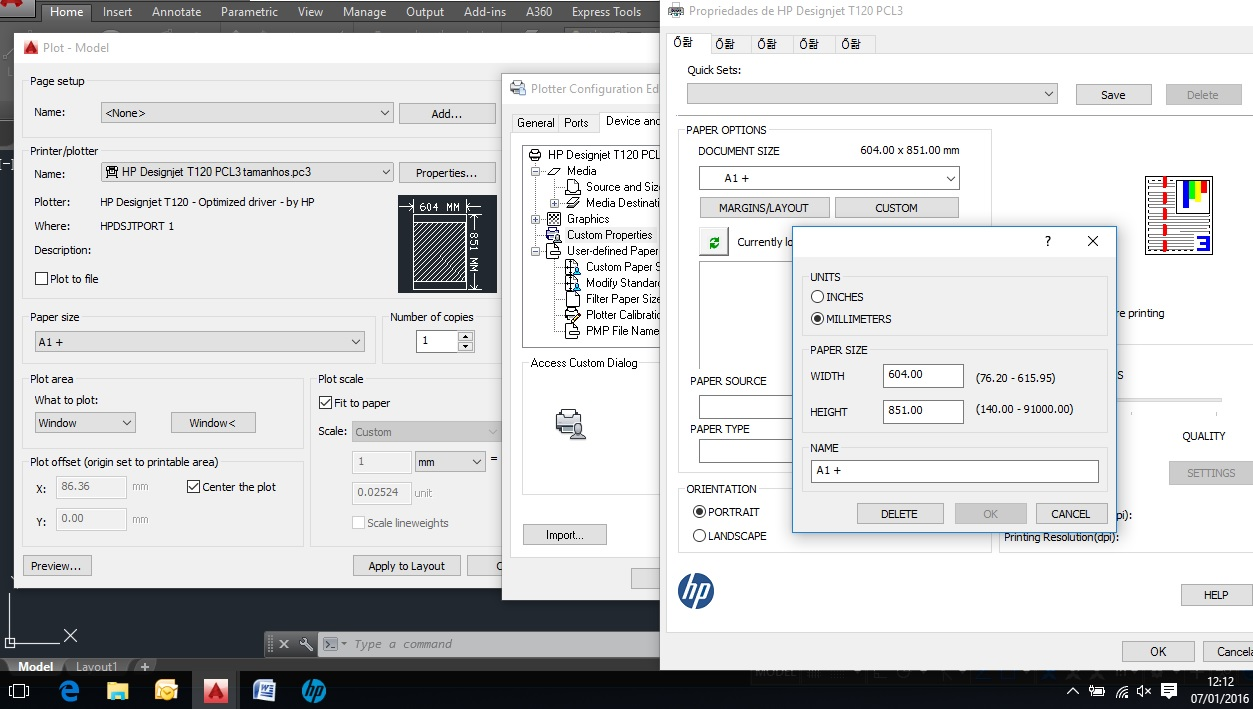 Custom paper size autocad pdf not visible
