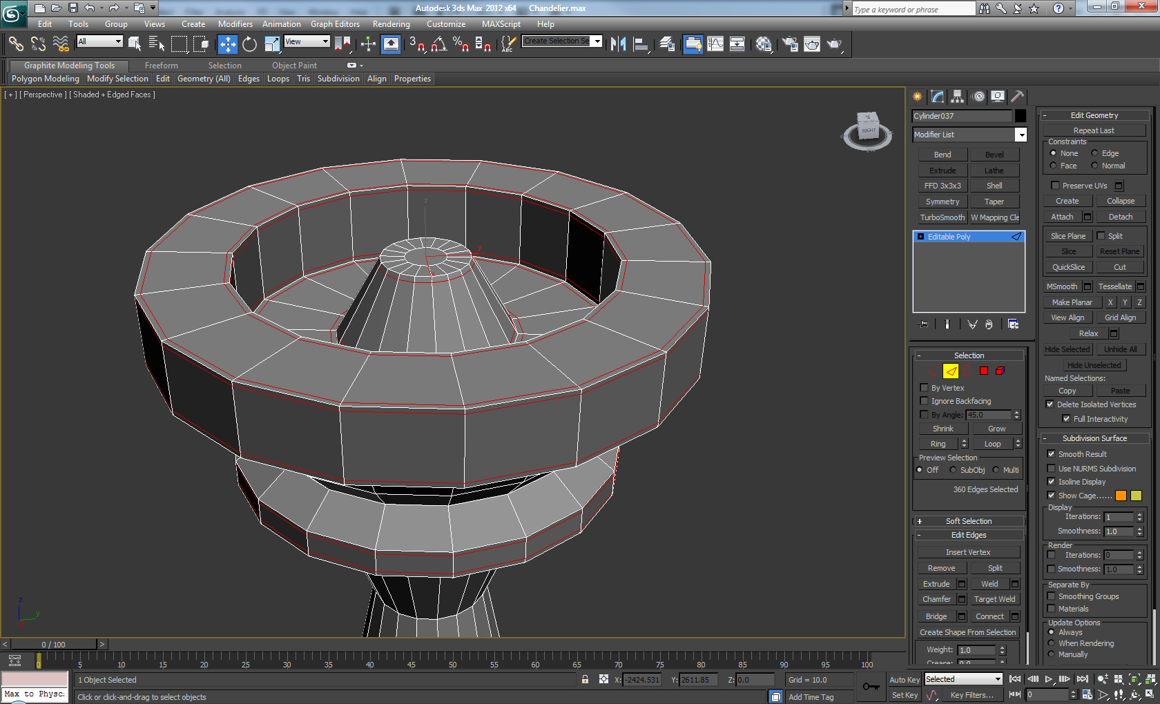 Model a decorative high poly chandelier in 3d studio max for Studio max 3d