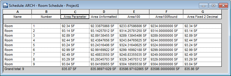 Solved: Subtotal accuracy in schedule - Autodesk Community