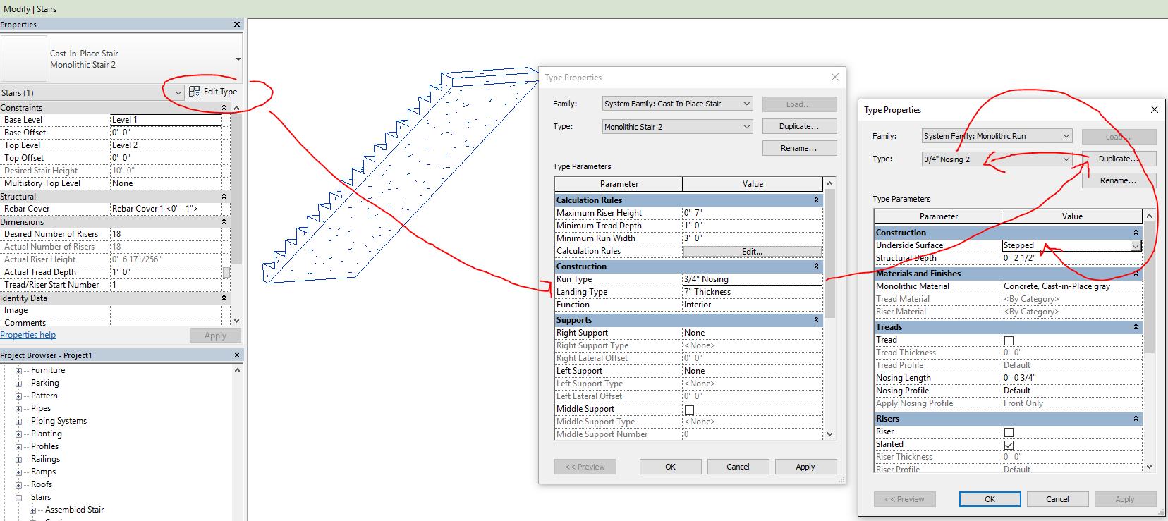 Multiple Monolithic Stair Types - Autodesk Community