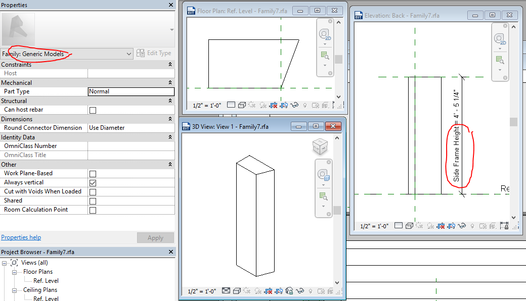 Solved: Door family - wall thickness - Autodesk Community- Revit ...