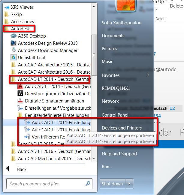 Gelöst: Benutzerprofil Speichern AutoCAD LT 2014