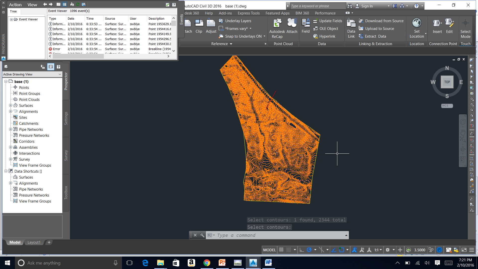 how to create ditches in civil 3d