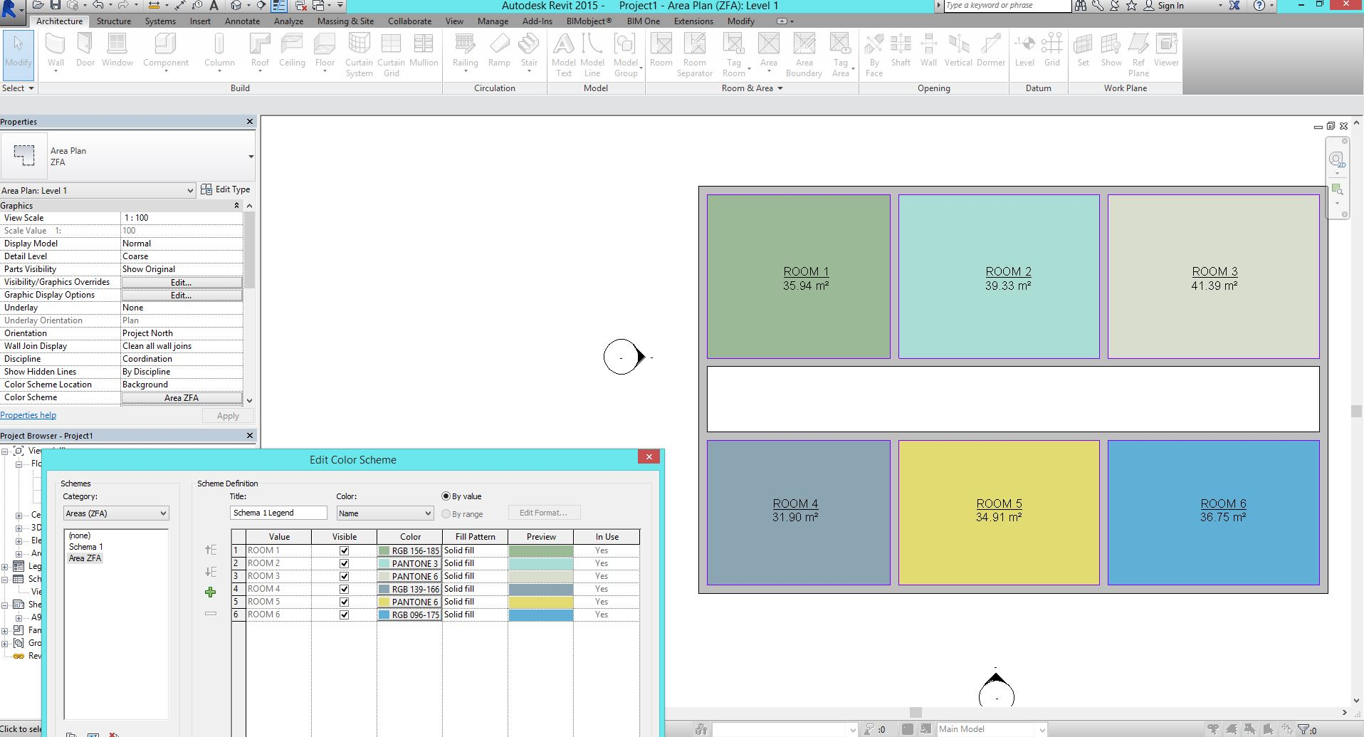 Revit Room Colour Showing On Wall