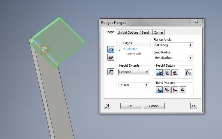 Solved Change Sheet Metal Bend Radius Autodesk Community