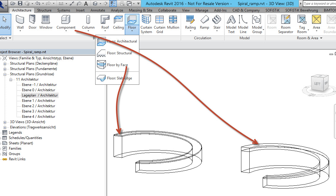 Solved Spiral Ramp With Transverse Slope Autodesk Community