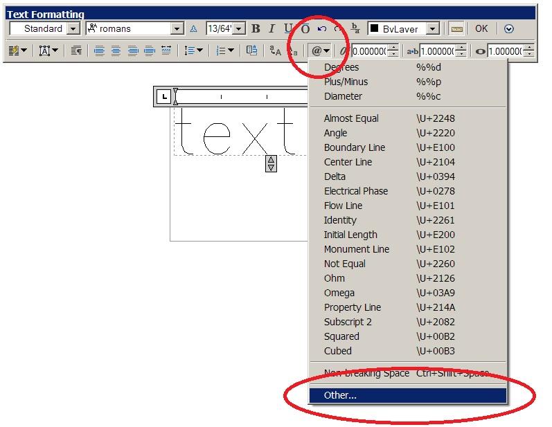 Solved Textsymbols Autodesk Community Autocad
