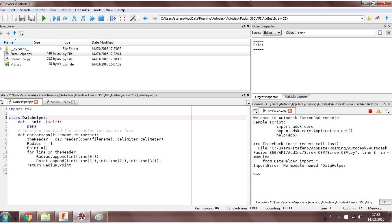 Importing CSV Data - Autodesk Community- Fusion 360