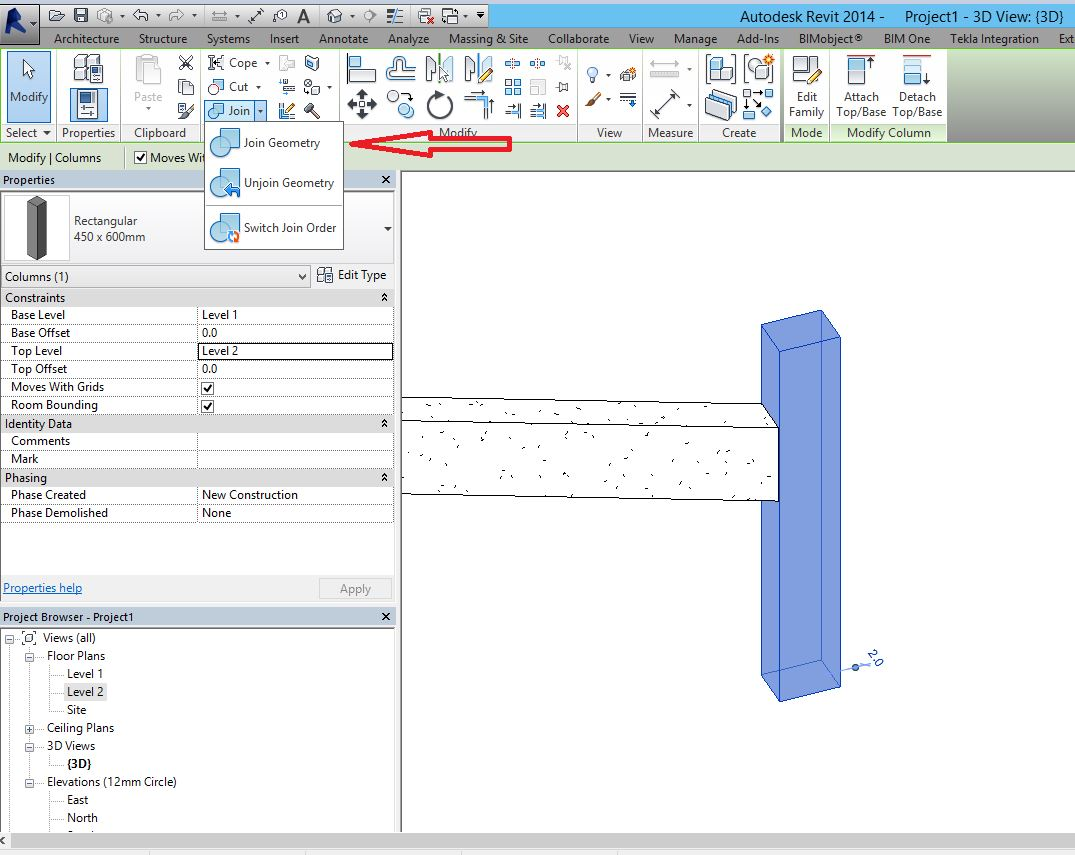 Join beam and column - Autodesk Community- Revit Products