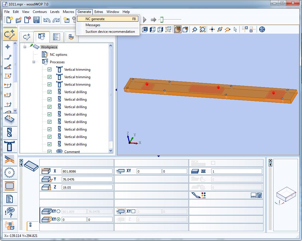 Post processor for Weeke cnc running Woodwop 5 0 - Autodesk
