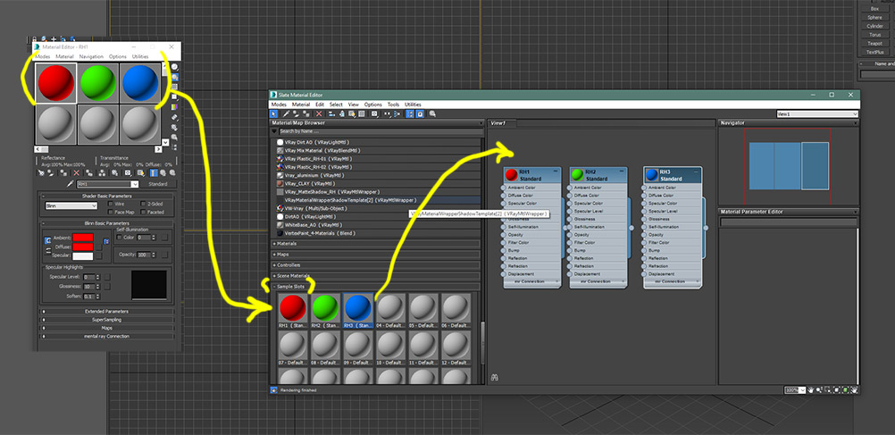 Solved: Move materials from compact to slate material editor