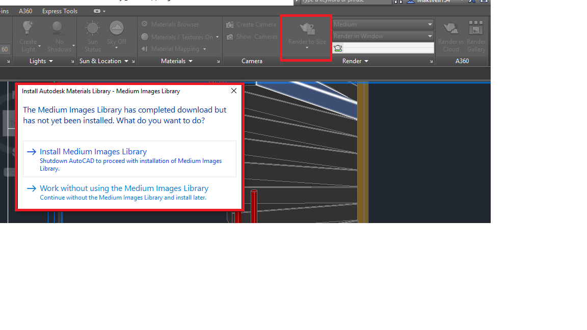 How to install the Materials Image Library in AutoCAD on