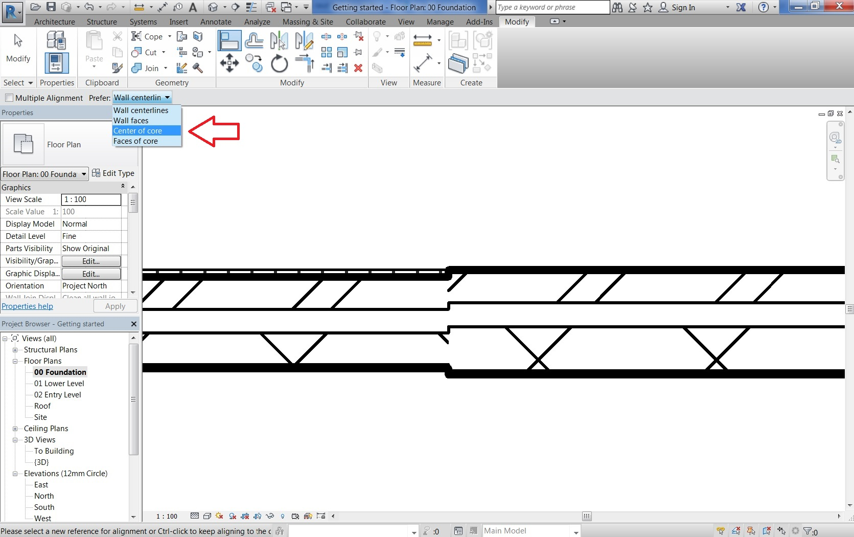 Can`t lock wall core to anything - Revit 2017 LT - Autodesk