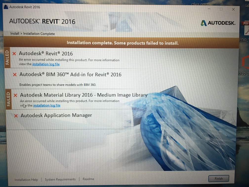 Installation Problems Revit 2016
