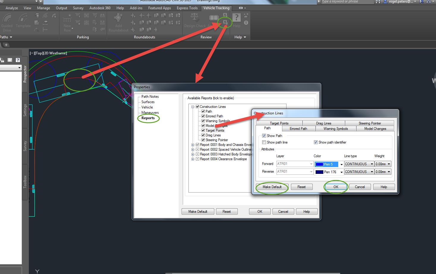 Swept Path: Colors? - Autodesk Community- Vehicle Tracking