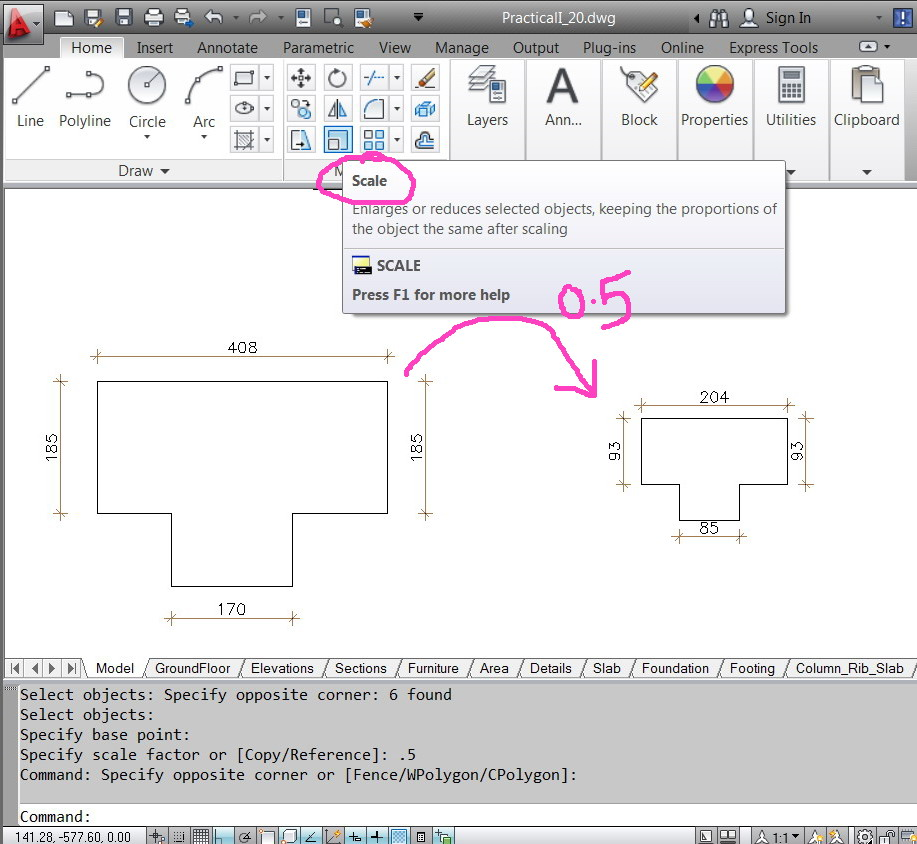 how to change dimension scale in autocad 2014