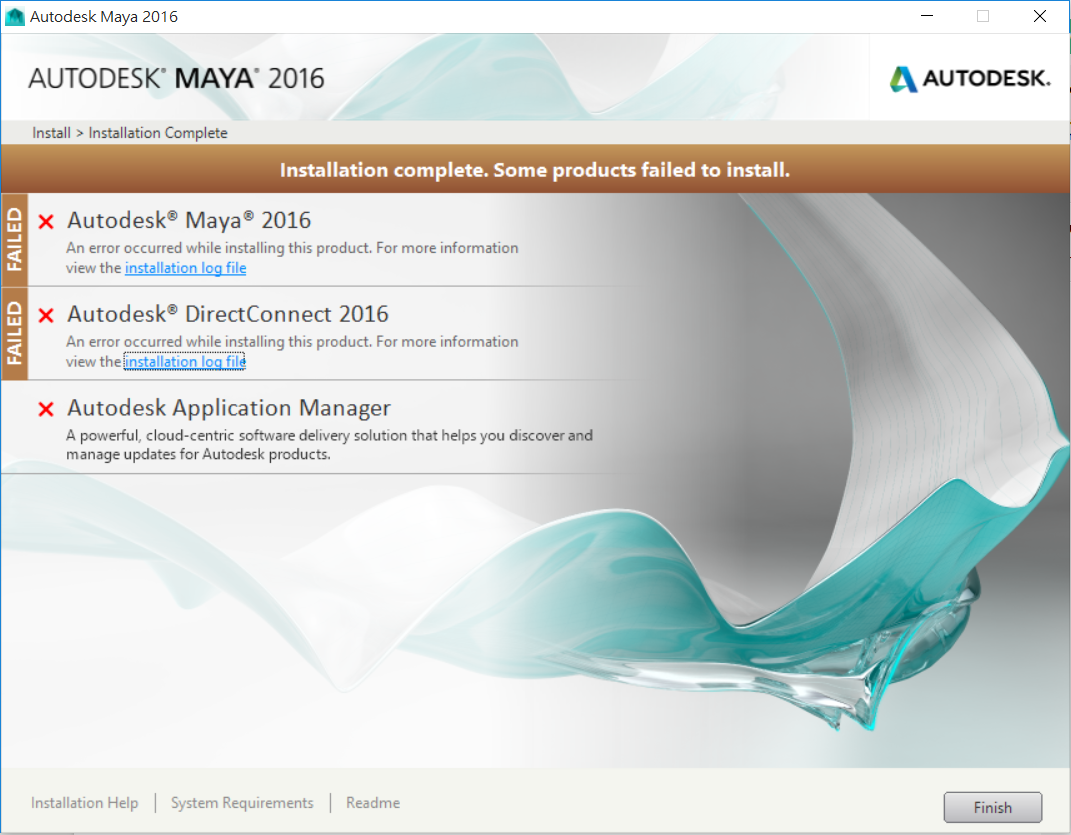 Solved: Maya 2016 (student version) can't install on Windows10 64bit