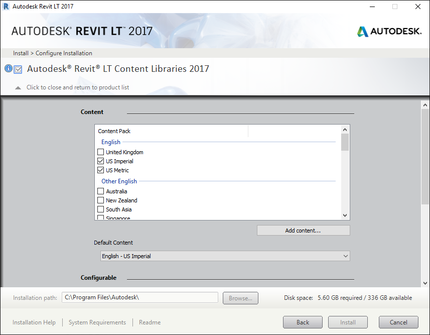 Solved: Revit LT 2017 content libraries won't install