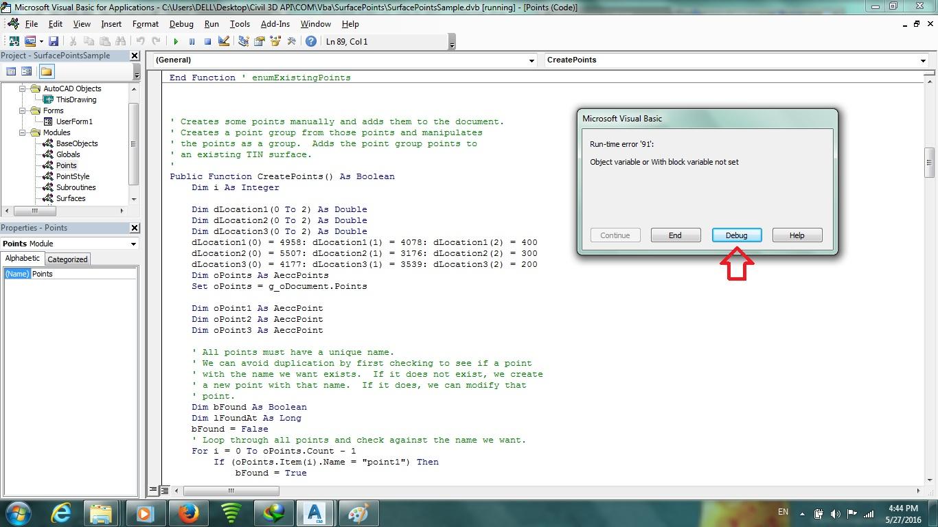 Solved: draw a Cogo point by vba - Autodesk Community- Civil 3D