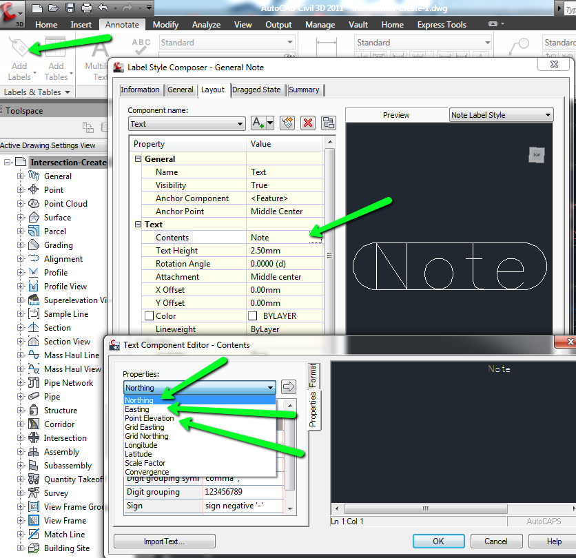 Solved: Label Northing & Easting (X,Y) - Autodesk Community
