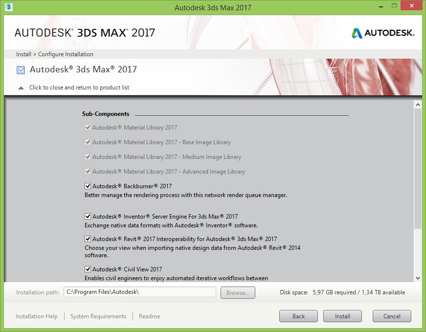 My 3DS Max 2017 installer do not include the Mentalray plugins