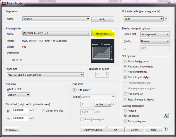 how to delete custom paper size in autocad