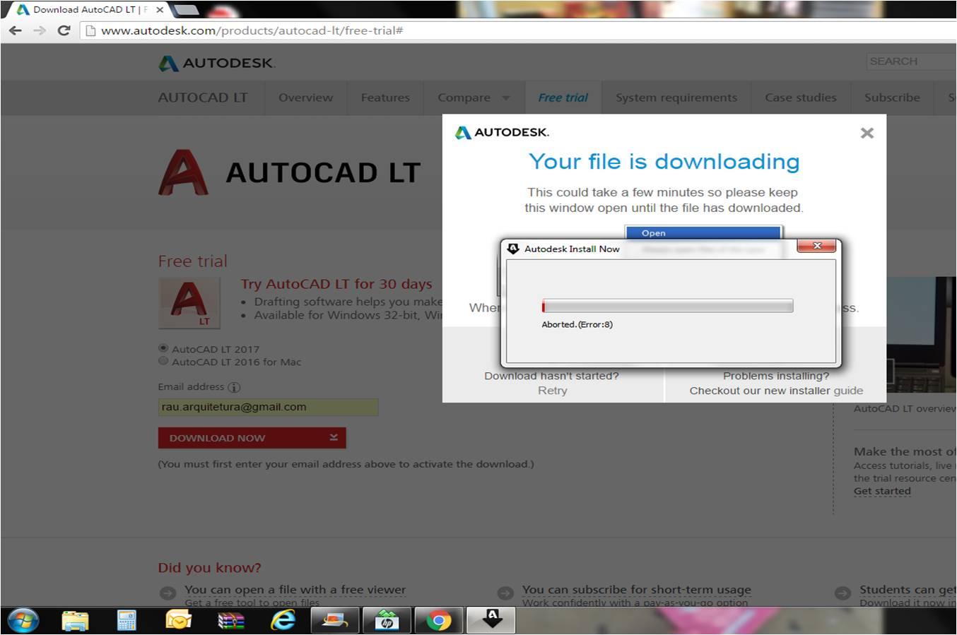 autocad lt trial version free download