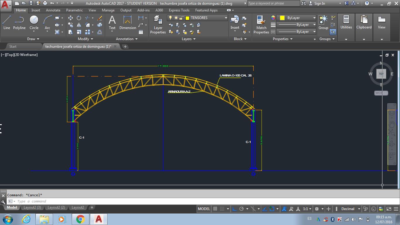 solved draw radial truss autodesk community