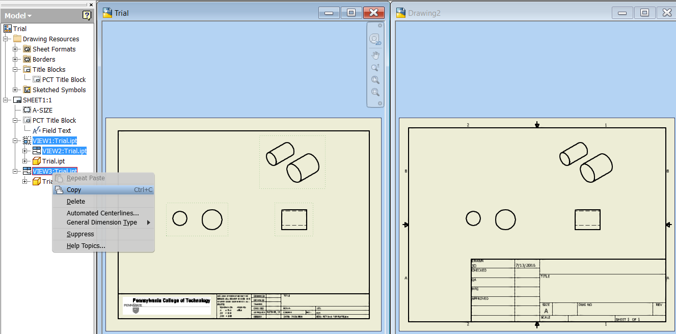 Solved: Copy/Paste  idw from one  idw to another - Autodesk