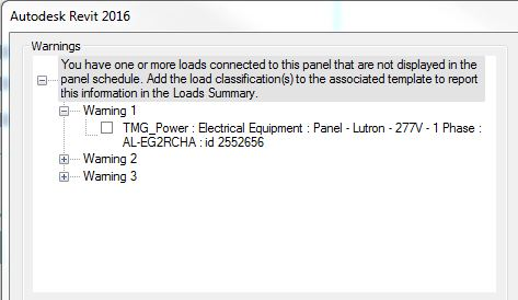 Solved: Warning About Loads Connected To Panel That Do Not Display