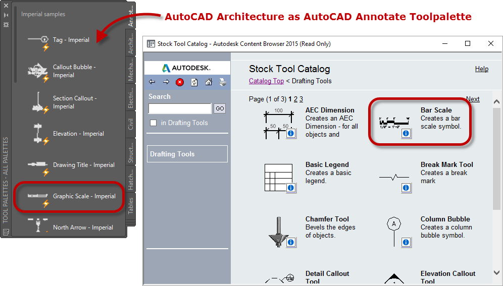 how to add a scale bar in autocad