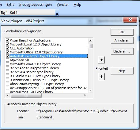 Solved: Open Inventor Part With the help of excel vba