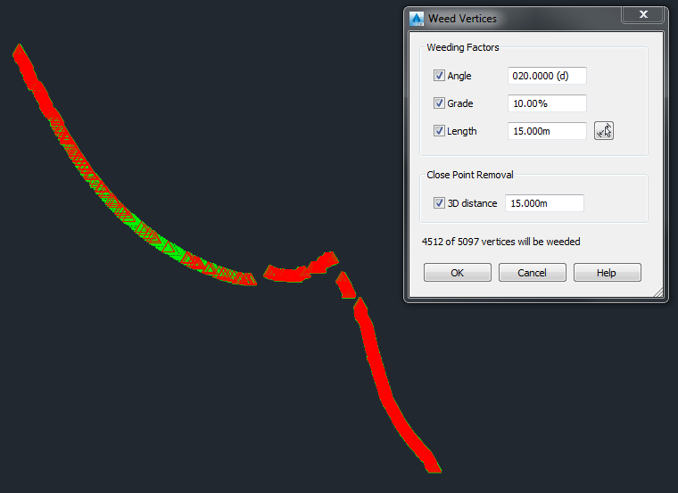 solved weedfeatures  working  complex polylines