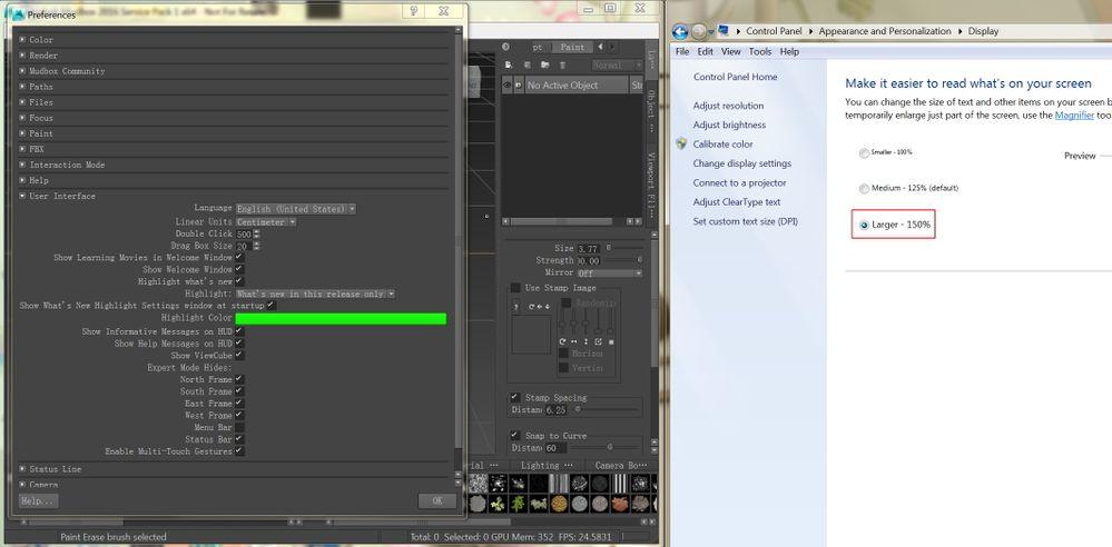 4K monitor - display issues - Autodesk Community- Mudbox