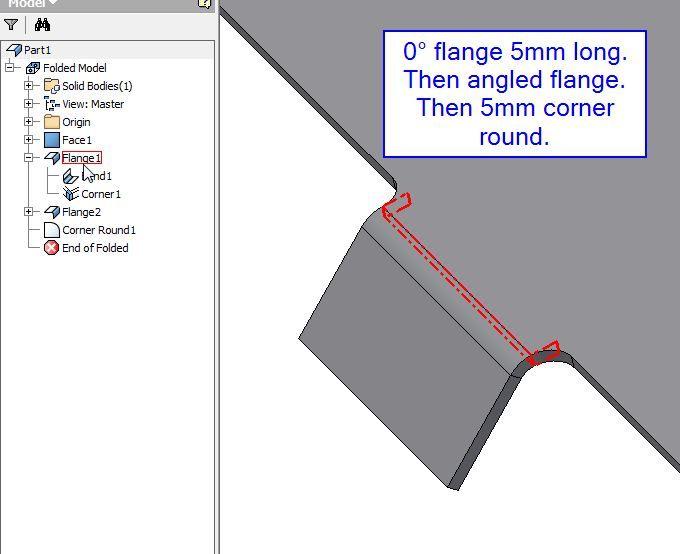 Inventor Sheet Metal Flange Offset Autodesk Community