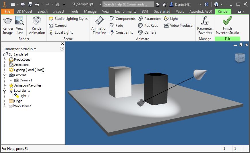 Studio Lighting 2017sp1 - New Style Not Effective - Autodesk