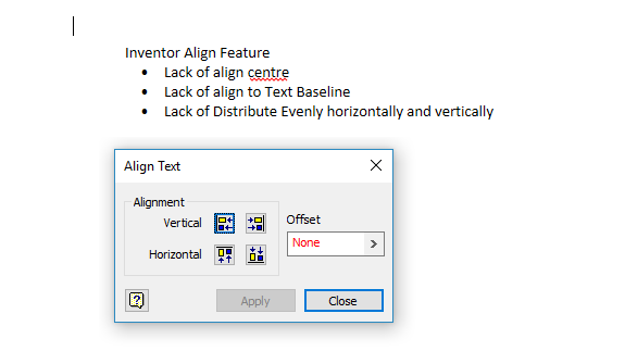 Align Distribulte Textobjectssymbols In Inventor Drawings Idw