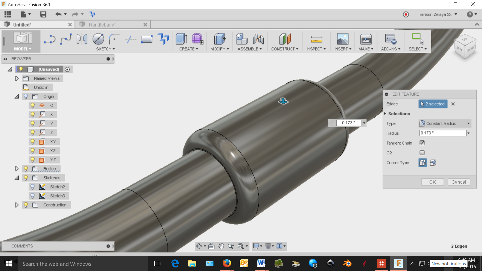 Solved: Bicycle handlebars...help... - Page 2 - Autodesk Community