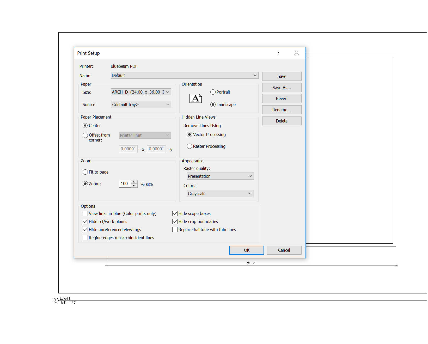 revit to pdf not markup