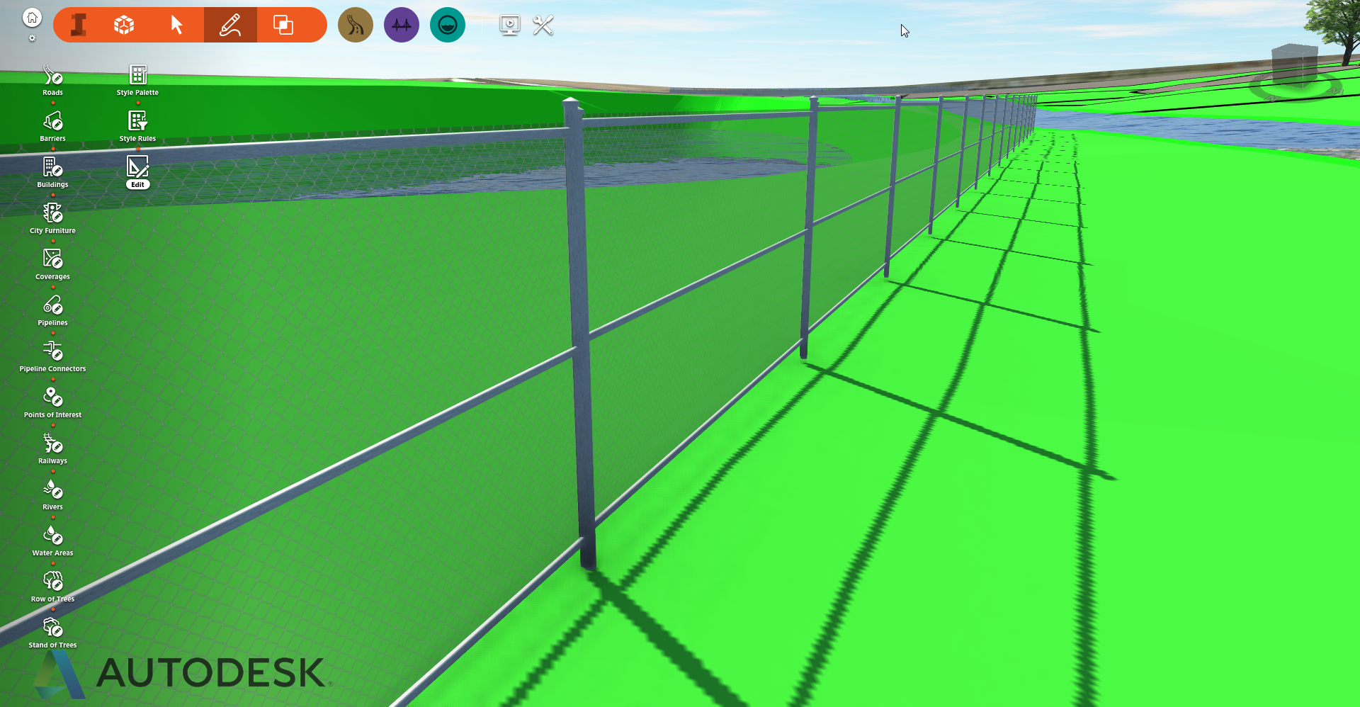 How to Make a Chain Link Fence - autodesk- Infraworks